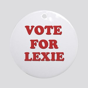 Vote for LEXIE Ornament (Round)