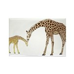 Giraffe Mom and Baby Magnets