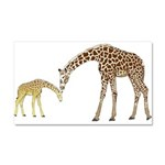 Giraffe Mom and Baby Car Magnet 20 x 12