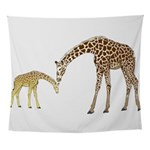 Giraffe Mom and Baby Wall Tapestry