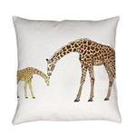 Giraffe Mom and Baby Everyday Pillow
