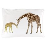 Giraffe Mom and Baby Pillow Case