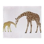 Giraffe Mom and Baby Throw Blanket