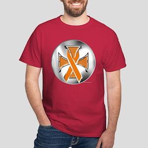 Kidney Cancer Iron Cross T-Shirt