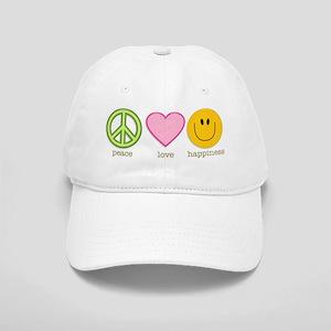 Peace Love & Happiness Cap