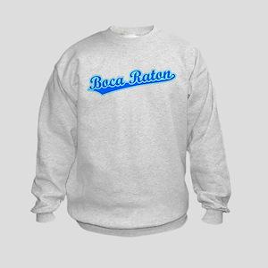 Retro Boca Raton (Blue) Kids Sweatshirt