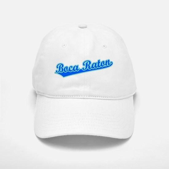 Retro Boca Raton (Blue) Baseball Baseball Cap