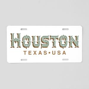 Houston Texas Aluminum License Plate