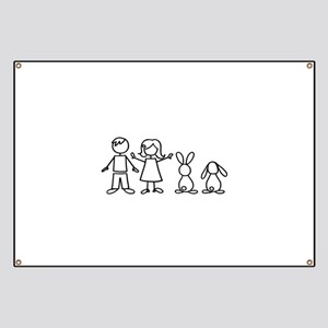 2 bunnies family Banner