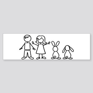 2 bunnies family Bumper Sticker