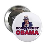 """Don't Trust Obama 2.25"""" Button (100 pack)"""