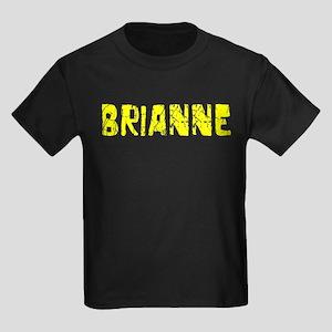 Brianne Faded (Gold) Kids Dark T-Shirt