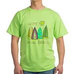 Jones Beach Surfer Green T-Shirt