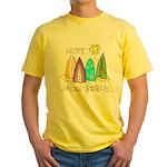Jones Beach Surfer Yellow T-Shirt