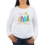 Jones Beach Surfer Women's Long Sleeve T-Shirt