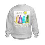 Jones Beach Surfer Kids Sweatshirt