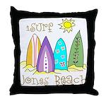 Jones Beach Surfer Throw Pillow