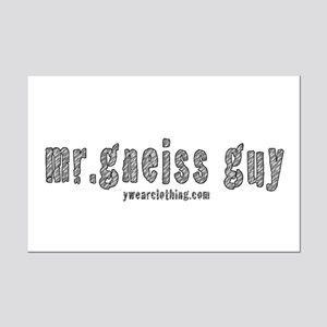 Mr Gneiss Guy Mini Poster Print
