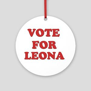 Vote for LEONA Ornament (Round)