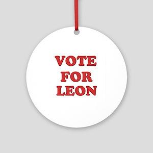 Vote for LEON Ornament (Round)