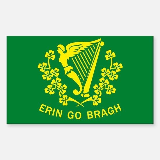 Erin Go Bragh Flag Rectangle Decal