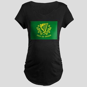 Erin Go Bragh Flag Maternity Dark T-Shirt