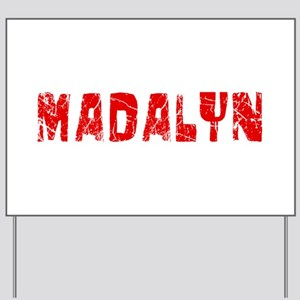Madalyn Faded (Red) Yard Sign