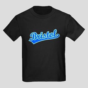 Retro Bristol (Blue) Kids Dark T-Shirt