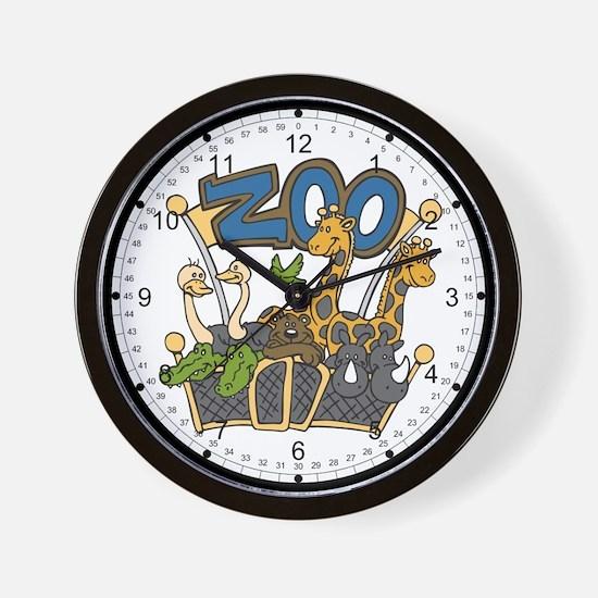 Zoo Friends Wall Clock
