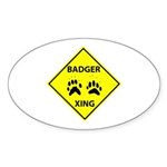 Badger Crossing Oval Sticker (10 pk)