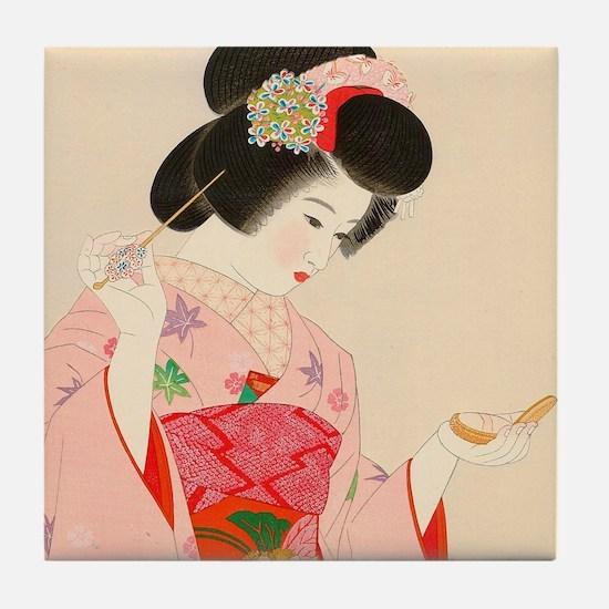 Cute Oriental Tile Coaster