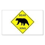 Bear Crossing Sticker (Rectangle 50 pk)