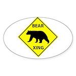 Bear Crossing Sticker (Oval 50 pk)
