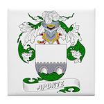 Aponte Family Crest Tile Coaster
