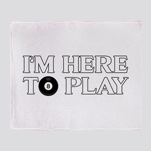 Funny Pool Billiards | I'm Here To P Throw Blanket