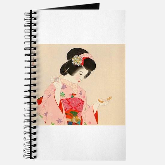 Vintage Japanese Geisha Lady Woman Girl Or Journal