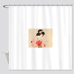 Vintage Japanese Geisha Lady Woman Shower Curtain