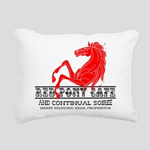 Red Pony Cafe Rectangular Canvas Pillow
