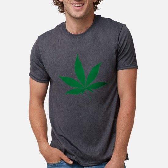 Marijuana Leaf White T-Shirt