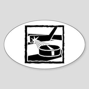 Hockey Sticker (Oval)