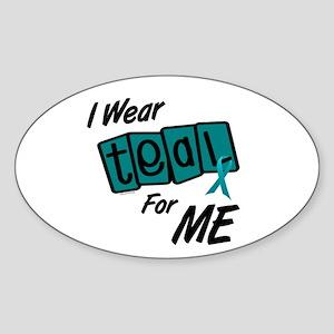 I Wear Teal 8.2 (ME) Oval Sticker