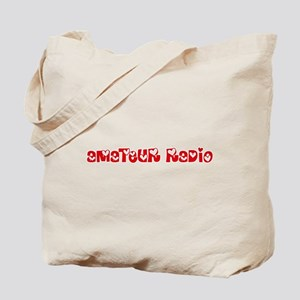 Amateur Radio Heart Design Tote Bag