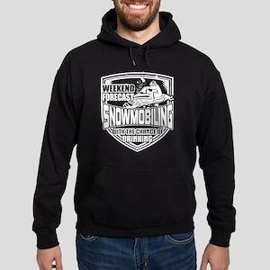 Weekend Forecast Snowmobiling T Shirt Sweatshirt