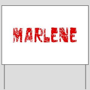Marlene Faded (Red) Yard Sign