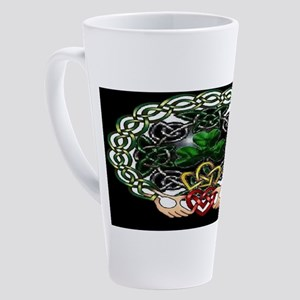 Celtic Clan Crest Black 17 oz Latte Mug