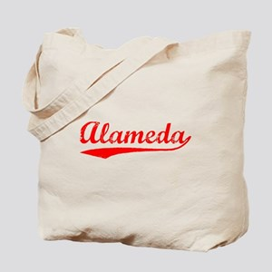 Vintage Alameda (Red) Tote Bag