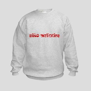 Bird Watching Heart Design Sweatshirt