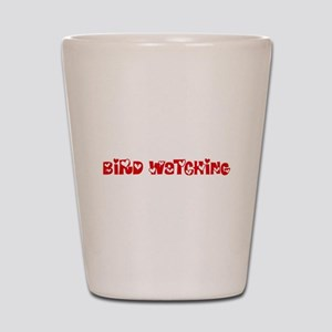 Bird Watching Heart Design Shot Glass