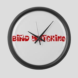 Bird Watching Heart Design Large Wall Clock