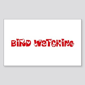 Bird Watching Heart Design Sticker